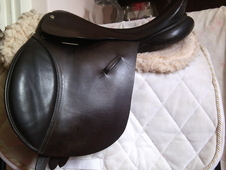 Can Post 16. 5'' Medium Wh/gp/jump Saddle Brown English Leather
