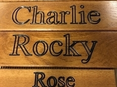 Solid Oak Name Plaques
