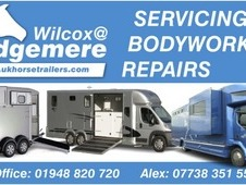 Service Your Horsebox or Trailer Wilcox @Edgemere  service centre...