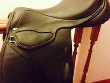 Black Leather Saddle