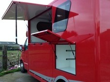 stalled for 2 rear facing Horsebox 58reg Red