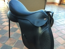 Kent & Masters HGP 17 1/2 brown saddle