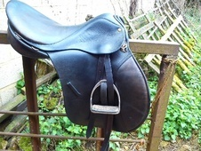 Medium Narrow black leather Champion saddle - Warwickshire