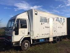 FORD CARGO 7. 5 TONNE 3 HORSE AND LIVING EASY LADIES LORRY G REG ...