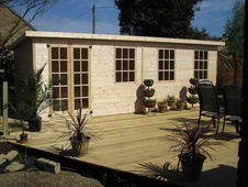 20 x 10ft pine summerhouse workshop cabin heavy duty shed £1795 ...