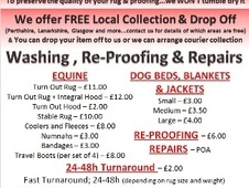 Equine Rug Wash and Pet Laundry - Lanarkshire