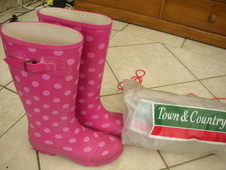 WELLINGTONS - LADIES - PINK SPOTTED