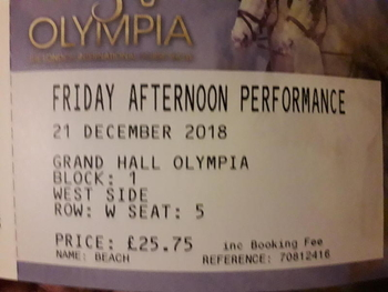 OLYMPIA AFTERNOON TICKET!!!