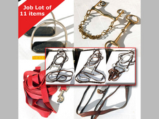 Tack Horse Bridles Spurs Poll Guard Lunge Line Halter Stirrups Double Weymouth Bit & Bradoon