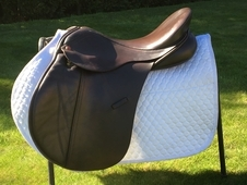 "Albion K2 GP Saddle 17. 5"" Wide Brown"
