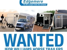 Wanted Ifor Williams &Equi-Trek Horse Trailers