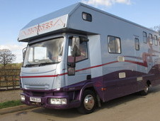 For sale 7.5 ton Horsebox,2006 Iveco Eurocargo coach built by Solitaire. Stalled for 3 + Luxury living