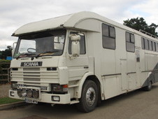 For sale HGV Horsebox, GC Smith coach build on Scania 450 chassis...