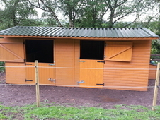 wooden Double stables