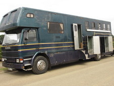 For sale HGV Horsebox, 1993 Scania series 3 coach built by JJ Woo...