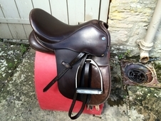 "15"" Dever Havana Brown Wide Leather Pony Saddle"