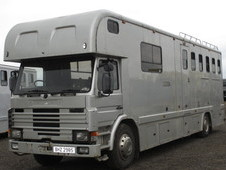 For sale HGV Horsebox,Scania Coach built by Sovereign. 5 stall with weekend living