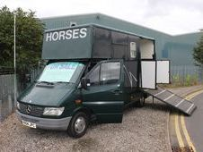 Mercedes 3. 5t horsebox.