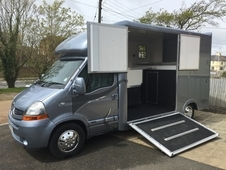 Unique horseboxes new build 2017 on a 2008 Renault Master chassis...