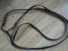 Brown Rubber Reins (Horse Sized)