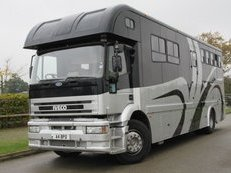 Beautiful 2000 17 ton Iveco Eurocargo 270 BHP Coach built by Elite horseboxes. Stalled for 4 with smart luxury living
