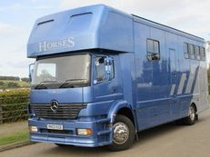 2003 18 ton Mercedes Benz Atego Recently coach built horsebox by EH. Stalled for 4 with smart luxury living.