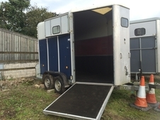 Blue Ifor Williams horse trailer