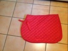 Red pony saddlepad
