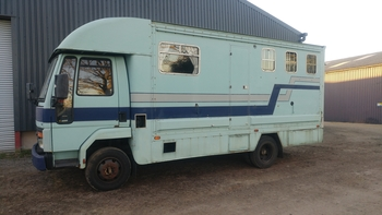1989 Ford Cargo Horsebox 7.5 ton 0813 - MOT until FEB 2020