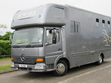 2001 Mercedes Benz Atego 815 Coach built horsebox. Stalled for 3 ...