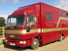 For sale 7.5 ton Horsebox,Very smart Iveco Eurocargo 75E15 Coach built TS Harker. Stalled for 3 with smart living with toilet.
