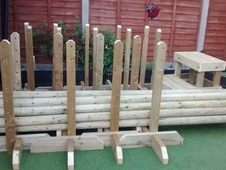 Job Lot! ! ! 10 x pairs of wings, 10 x poles and 1 mounting block