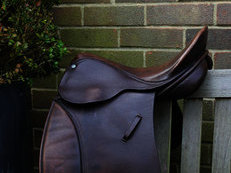 GP English leather saddle