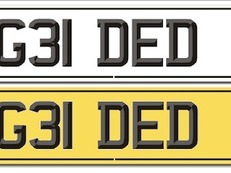 Cherished Registration plate for your Horsebox G31DED