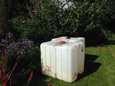 1000 litre water storage containers.
