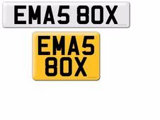 Cherished registration plates EMA580X