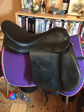 Black ideal GP saddle 17.5""