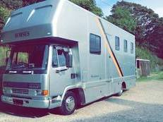 Daf 45/150 7.5t horsebox with living