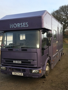 Iveco tector 7.5 52 plate with living based in Swansea, South Wales