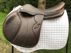 "Equipe Synergy Special JUMPING Saddle in Brown - 17"", Medium, Brown"