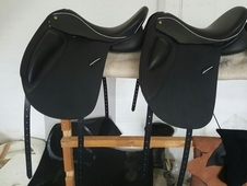 2 dressage saddles brand new made by a new company WRM SADDLES in...