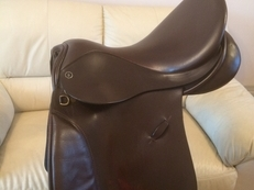 Saddle Farrington's GP 17.5 Brown extra wide