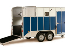 HB610 horse trailer providing a maximum gross weight of 3500kg