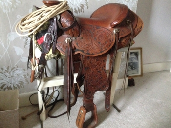 Hand made western saddle