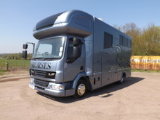 THIS LORRY IS NOW SOLD -DAF LEYLAND 59 PLATE NEW BUILD 7.5 TON TAKES 3 LARGE HORSES PRIVATE SALE NO VAT