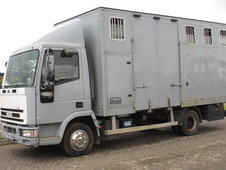 For sale 7.5 ton Horsebox,2001 Iveco Tector Eurocargo TS Harker transport truck. Stalled for 5 with side and rear ramp
