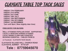 Claygate Tack Sales Surrey