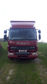 DAF LF 45 MAROON LADIES LORRY WITH SIDE RAMP