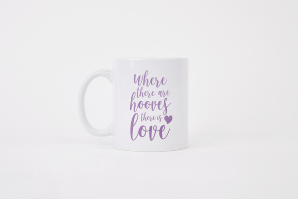 Equestrian gift box brand Hooves & Love's perfect present for a little 'thank you' – the Hooves & Love Mug