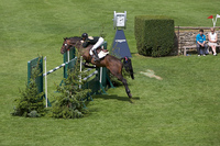 Trevor Breen sweeps up the Eventing Grand Prix at Hickstead